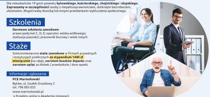 """Prywatne Centrum Edukacyjne """"MARMOŁOWSKI"""" s.c. zaprasza do udziału w projekcie """"Akademia integracji""""."""