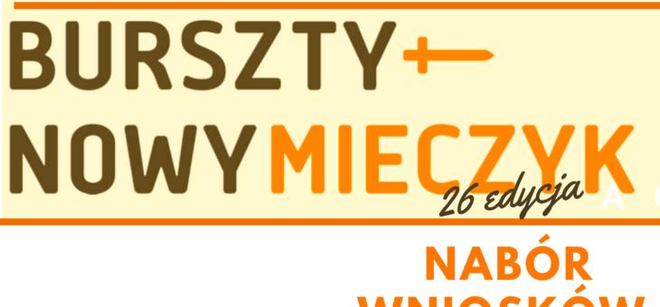 26.edycja konkursu o Nagrodę Bursztynowego Mieczyka dla pomorskich NGO!