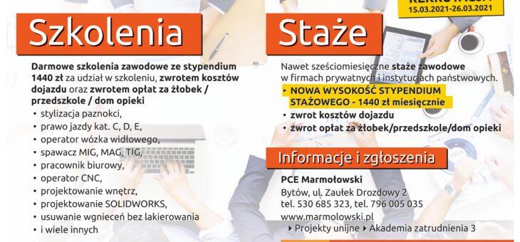 """Prywatne Centrum Edukacyjne """"MARMOŁOWSKI"""" s.c. realizuje projekt """"Akademia zatrudnienia 3"""""""